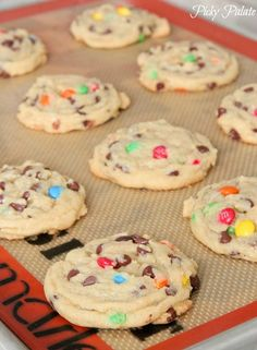 How To Make Perfect M and M Cookies from Picky Palate.  Might have to give these a try... instant pudding in the dough sounds interesting.