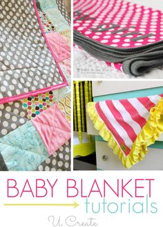 Tons of darling, cute, Baby Blanket Tutorials - perfect gift for mom-to-be!!