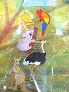 Australian Animals Dimensional Stickers A Touch by RoyalDescent10, $3.25
