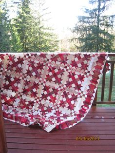"""Talkin' Turkey"" quilt top Pattern by Bonnie Hunter in her book  String Fling"