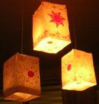 floating lanterns from Tangled