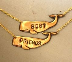 friends, style, necklac set, bff, necklaces, friend necklac, jewelri, thing, whales