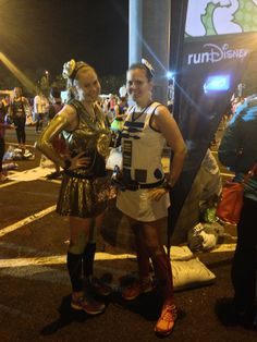 R2D2 and C3PO costumes for Disney race.