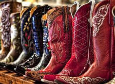This is what every COWGIRL'S shoe rack should look like !