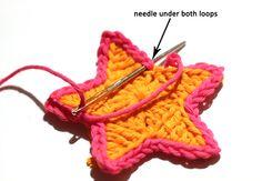 Crochet Simple Star -Tutorial craft, crochet simpl, tutorials, crochet star, crochet motif, stars, simpl star, matt, star tutori