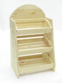 3 Bin Wood Counter Display