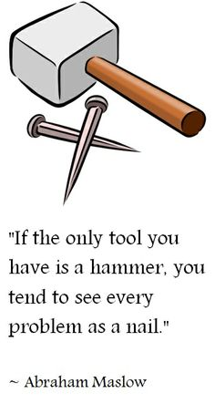 Well... Get yourself some more tools...   Roni's Inspirational Quotes Gallery