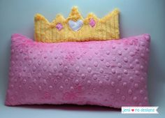 Fit for a Princess! Cuddle™ Character Travel Pillows - Tutorial by @jeni ro designs - Up on our blog, My Cuddle Corner http://shannonfabrics.com/blog/2014/05/02/cuddle-character-travel-pillows/ #CuddleCharacterPillows #CuddleCharacterTravelPillows #mycuddlecorner #princess