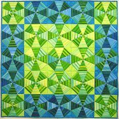 "Kaleidoscope Free Pattern that uses ""stripey"" fabric"