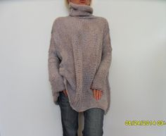 Women chunky knit sweater. Oversized by RoseUniqueStyle