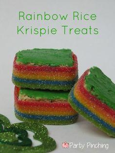 Rainbow Rice Krispie Treats tutorial