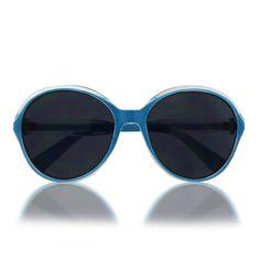 Gafas de sol polarizadas - Azul, montura redonda.