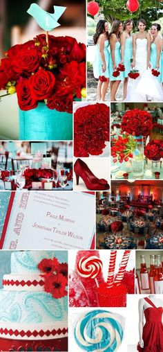 Tiffany blue and red!
