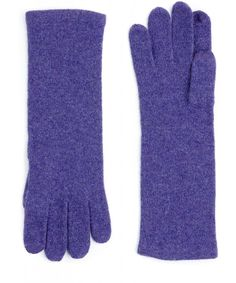 violet cashmere touch-screen gloves - such a beautiful color.