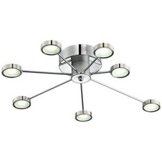 """Definitely NOT an ordinary ceiling light! #Retro Circles 30"""" Wide LED Ceiling Light Fixture from Lamps Plus #lighting #chandelier"""