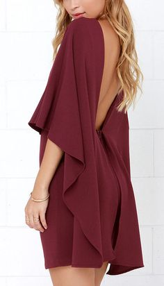 Burgundy cape dress