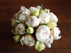 flower arrang, bouquet, tulip, peoni season