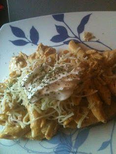 Chicken fajita penne pasta