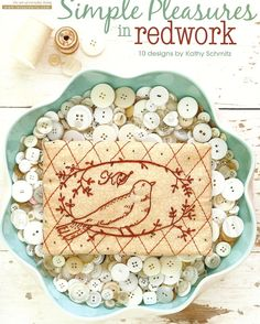 SIMPLE PLEASURES in REDWORK:  10 designs by Kathy Schmitz