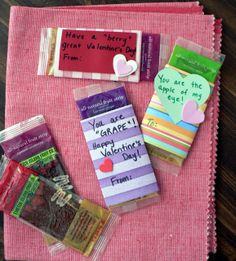 fruit leather valentine (and other healthy valentine treats)