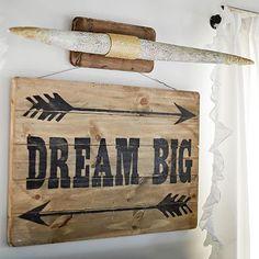 Junk Gypsy Dream Big wooden wall Art $69