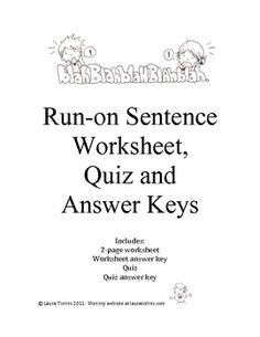sentence fragments worksheets quizzes and answer keys. Black Bedroom Furniture Sets. Home Design Ideas