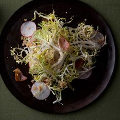 Have to try the dressing.   Frisee and Radish Salad with Hazelnut Dressing Photo - Easter Appetizers and Side Dishes Recipe | Epicurious.com