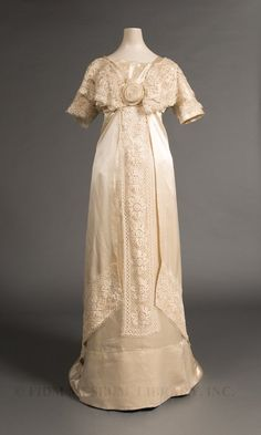 Wedding dress worn by Mary Peterson Wells, 1910-11