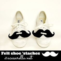 Felt Shoe Mustaches are super-cute and easy enough for your kids to make!