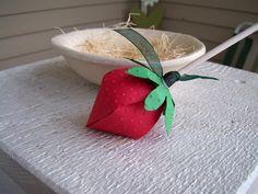 Strawberry Lollipop Favor Set of 12