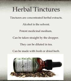 MAKING HERBAL TINCTURES