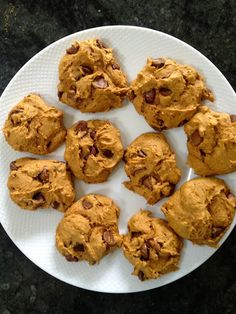 Easy Pumpkin Chocolate Chip Cookies - 3 ingredients and no measuring!