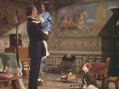 They only show Bonnie's bedroom briefly, but what a bedroom it is! Look at all the murals on the walls: bonni bedroom, nurseries, moviesgwtwclark gabl, gone with the wind bonnie, rhett butler, scarlett, bonnie blue butler, children, bonni blue