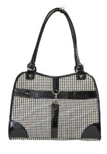 Anima Houndstooth Purse Carrier, 13.5-Inch by 6.5-Inch by 10.5-Inch, Black --- http://www.pinterest.com.gp1.me/5m9