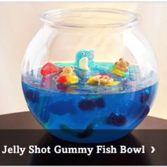 Fish party-Jello fish bowl- 6 boxes of jello. Made, let set overnight ...
