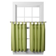 Cafe curtains.