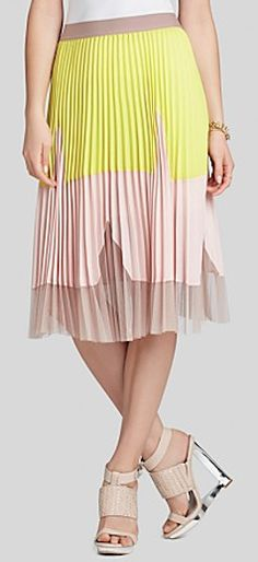 pleated color block skirt  http://rstyle.me/~2lJJq
