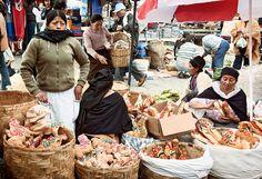 street food in Ecuador,  selling bread babies traditional food for el dia de los difuntos (day of the dead)