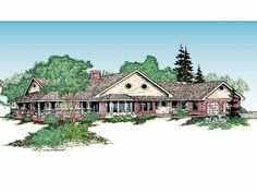 Farmhouse House Plan with 2496 Square Feet and 3 Bedrooms.  Needs some reconfiguration, but possible.