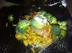 Cheesy Broccoli Chicken Foil Packs