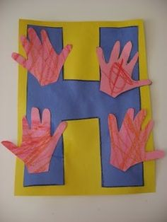 Alphabet Letter H is for Hands