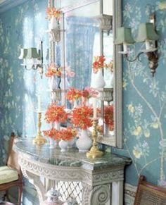 interior design, vignett, blue, foyer