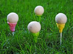 golf tee, ball, golf cakes, golf party, cake pops