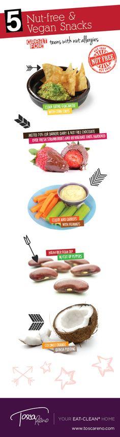 #BackToSchool #Snacks for the Kids...or Mom! #schoolsnack #recess #nutfree #vegan #dairyfree #eatclean #eatcleandiet #snack #treat #recipe #ideas #kids #children #tweens #vegetarian #toscareno #eatingclean #cleaneating #coconut #hummus #guacamole #beandip #chocolate #strawberries