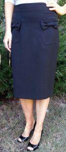 Bow Pocket Black Skirt on sale for $29; sizes 2 -16