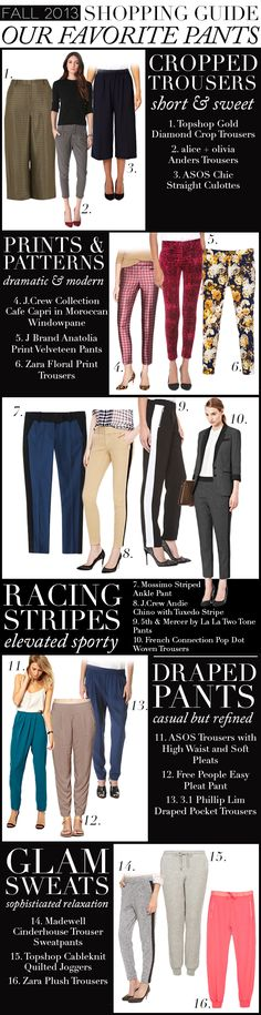 Fall Shopping Guide: Our Favorite Pants