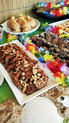 Hawaiian Luau Beach Party Food