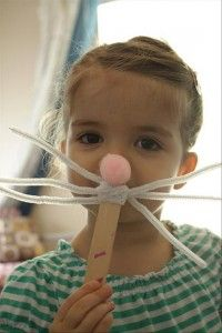 the Easy Easter DIY Crafts- Easter bunny mask