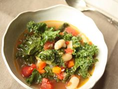 White Bean-Kale Stew with Tofu
