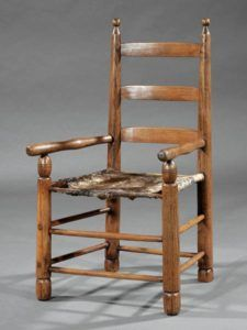 Cowhide armchair to be sold at Neal Auction, New Orleans, LA—Nov 17–19, 2017.